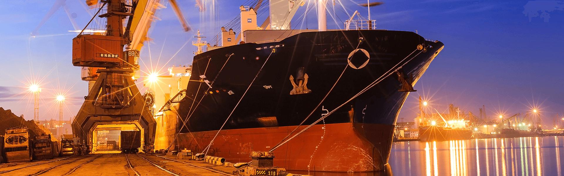 Cargo ship at dock