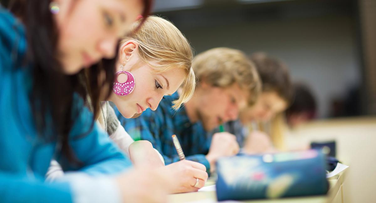 Students exam