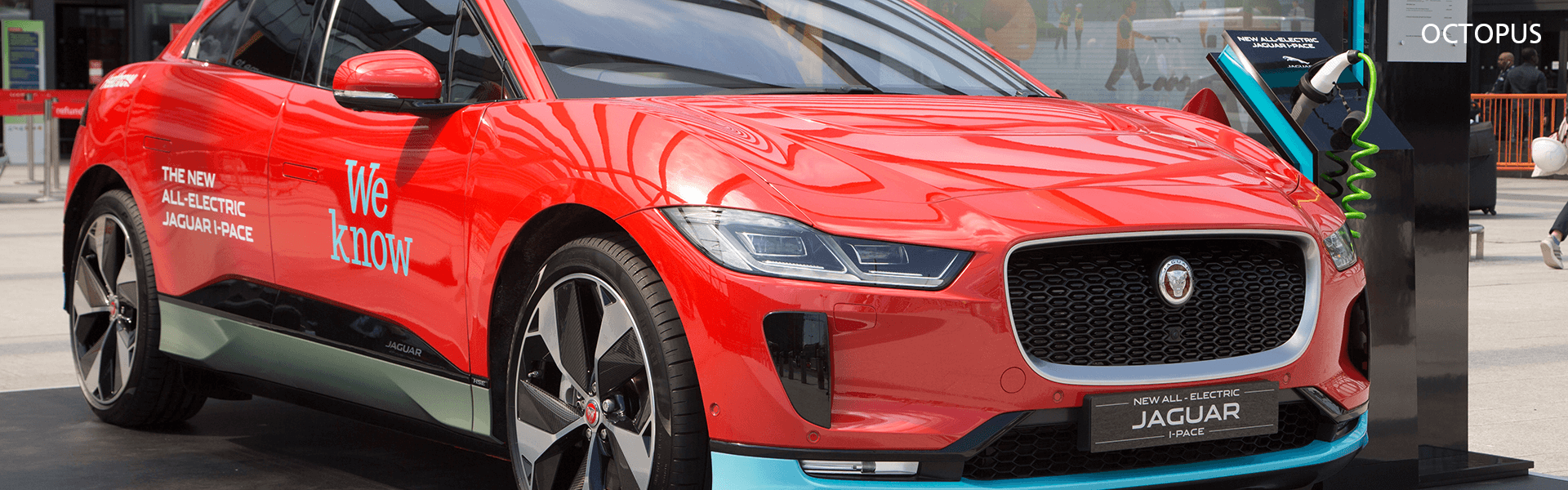 A photo of an electric Jaguar