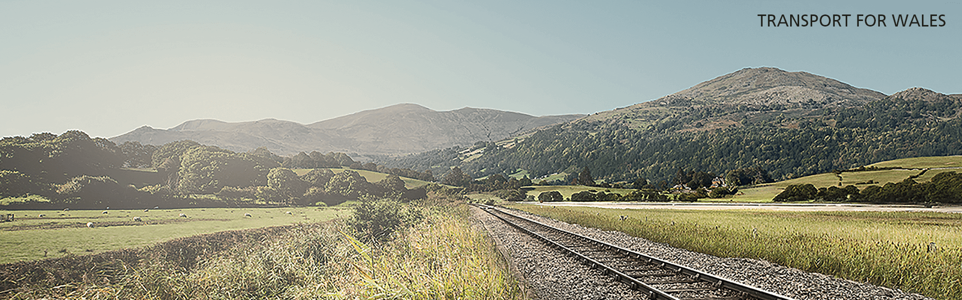 A photo of a railway track in Wales