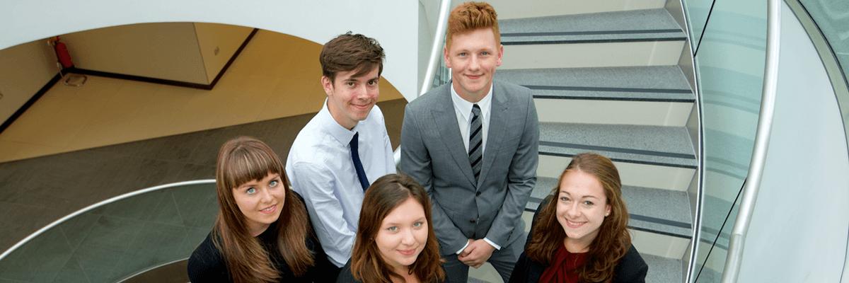 Five legal apprentices
