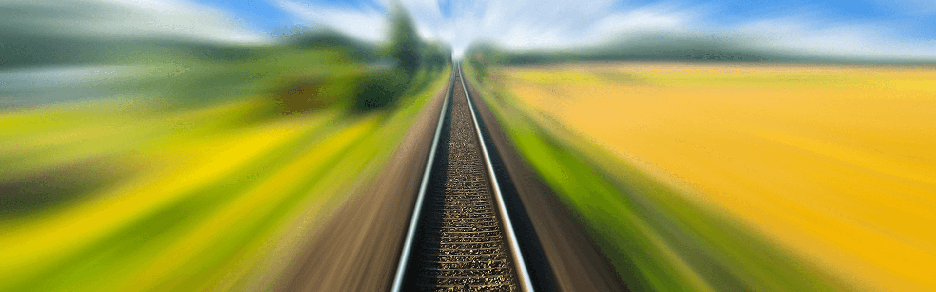 Railway track blurred
