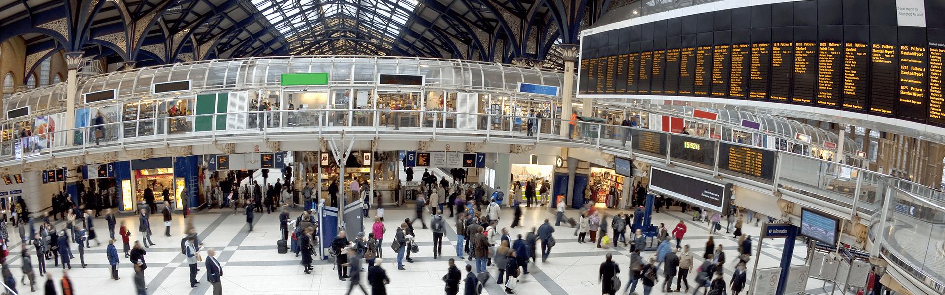 Liverpool Street Station fisheye