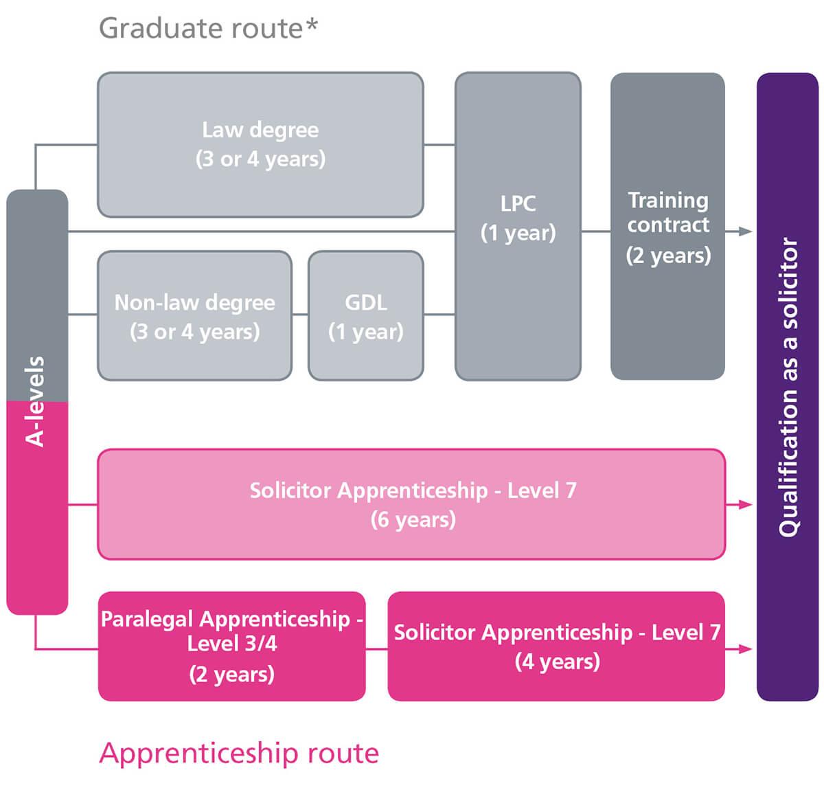 Graduate and apprentice routes