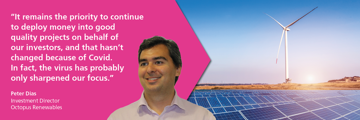 Peter Dias of Octopus Renewables Headshot and quote